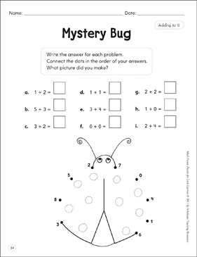 Adding to 8: Math Picture Puzzles for Young Learners - Printable Worksheet