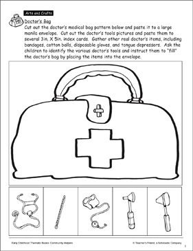 photograph regarding Printable Tools named Medical professionals Bag and Resources Craft Printable Arts, Crafts and