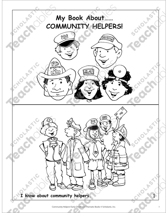 My Book About Community Helpers | Printable Mini-Books