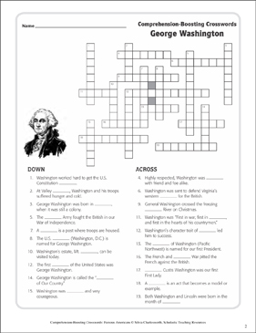 Abraham Lincoln: Text & Crossword Puzzle | Printable Crossword