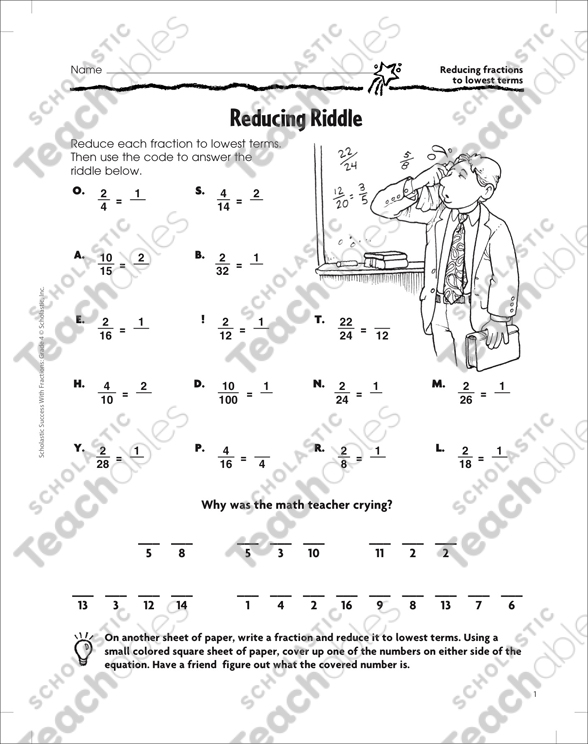 Reducing Riddle (Reduce Fractions to Lowest Terms ...