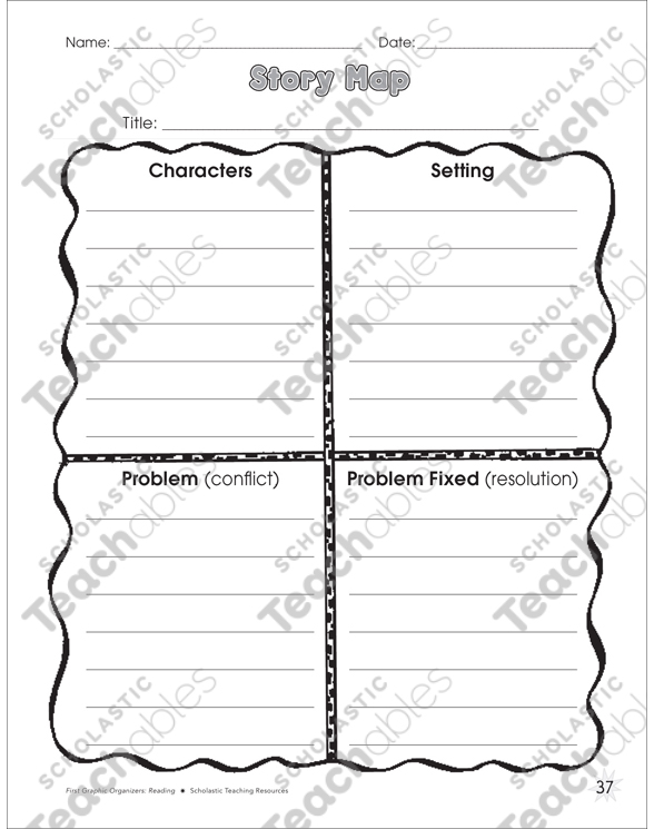 Story Map Graphic Organizer Printable Graphic Organizers