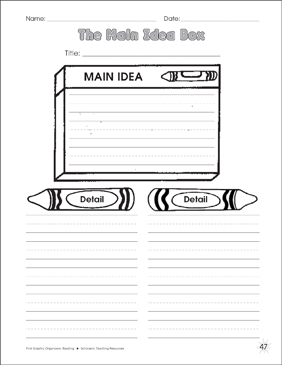 photograph about Main Idea Graphic Organizer Printable named The Principal Strategy Box Picture Organizer Printable Impression