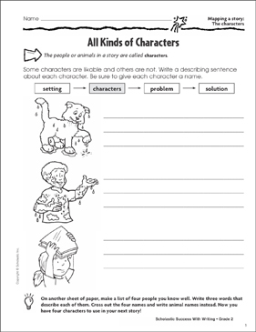 All Kinds of Characters (Mapping a Story: The Characters ...