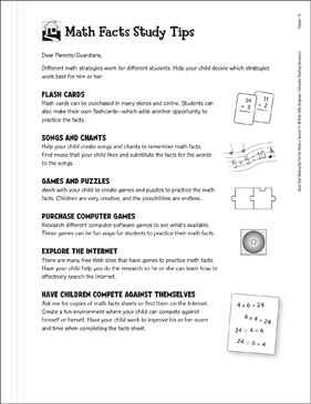 Math Facts Study Tips | Printable Classroom Management and ...