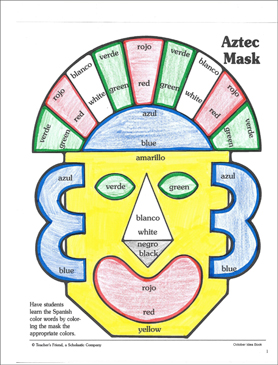 graphic about Mexico Printable called Mask In opposition to Mexico: Mask Habit Printable Craftivities
