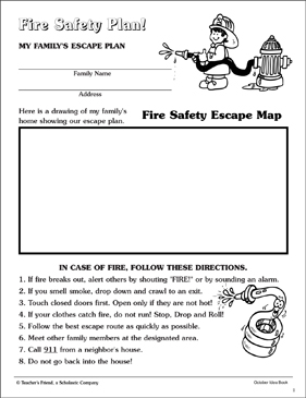 Fire Safety Plan: Mapping and Planning Page | Printable