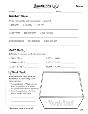 independent practice grade 5 math jumpstart 11 printable skills sheets. Black Bedroom Furniture Sets. Home Design Ideas