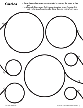 Circles: Scissor Skills - Printable Worksheet
