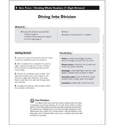 Diving Into Division: Solve & Draw Math - Printable Worksheet