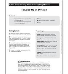 Tangled Up in Division: Solve & Draw Math - Printable Worksheet
