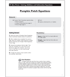 Pumpkin Patch Equations: Solve & Draw Math - Printable Worksheet