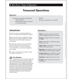 Treasured Operations: Solve & Draw Math - Printable Worksheet