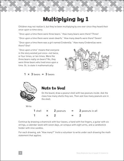 Multiplying by 1: Making Multiplication Easy - Printable Worksheet