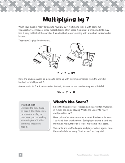 Multiplying by 7: Making Multiplication Easy - Printable Worksheet