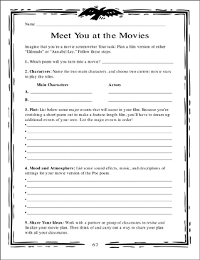 Meet You at the Movies - Printable Worksheet