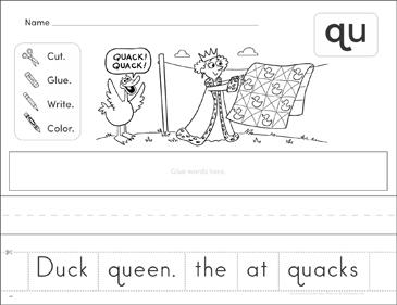 Consonant Blend (qu): Phonics Scrambled Sentence | Printable ...