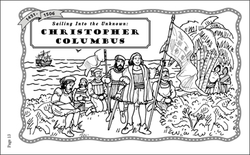 Christopher Columbus (1451-1506) - Printable Worksheet