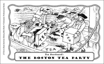 picture about Tea Party Printable known as The Boston Tea Celebration (1773) Printable Mini-Textbooks