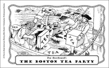 image about Tea Party Printable titled The Boston Tea Social gathering (1773) Printable Mini-Publications
