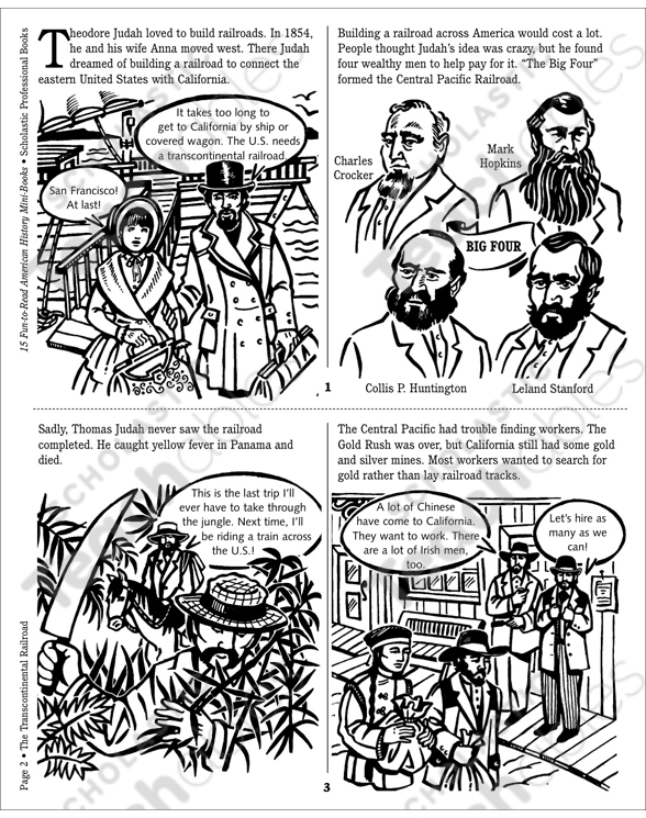 The Transcontinental Railroad 1869 Printable Minibooks. See Inside. Worksheet. Transcontinental Railroad Worksheets At Clickcart.co