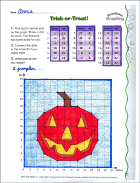 Trick-or-Treat! Coordinate Graphing With Ordered Pairs - Printable Worksheet