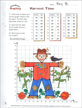 Harvest Time! Coordinate Graphing With Ordered Pairs - Printable Worksheet
