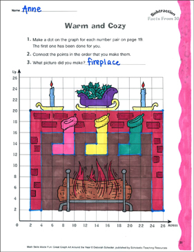 Warm and Cozy: A Subtraction Activity (Facts from 30) - Printable Worksheet