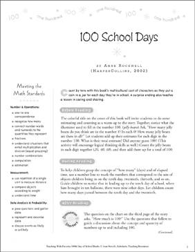 100 School Days: Teaching With This Favorite Book - Printable Worksheet
