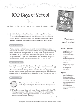 100 Days of School: Teaching With This Favorite Book - Printable Worksheet