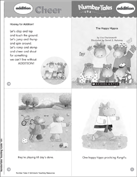 The Happy Hippos (Addition) - Printable Worksheet