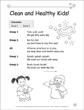 Clean and Healthy Kids! Science Play - Printable Worksheet