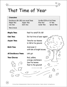 That Time of Year: Science Play - Printable Worksheet