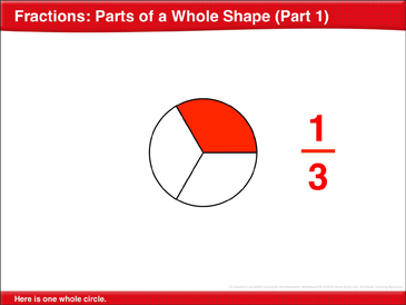 Fractions: Parts of a Whole Shape: Math Lesson - Printable Worksheet