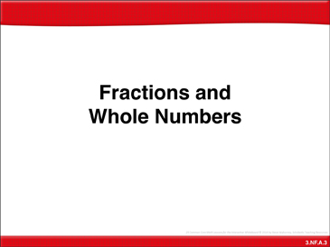 Fractions and Whole Numbers: Math Lesson - Printable Worksheet