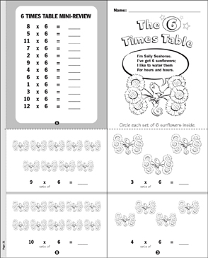 The 6 Times Table - Printable Worksheet