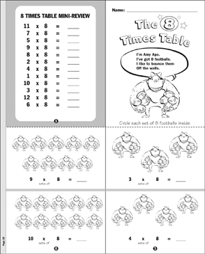 The 8 Times Table Mini-Book - Printable Worksheet