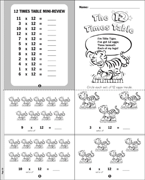The 12 Times Table - Printable Worksheet
