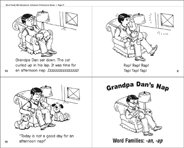 Grandpa Dan's Nap (-an, ap) - Printable Worksheet