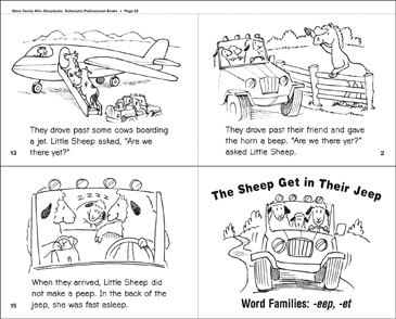 The Sheep Get in Their Jeep (-eep, -et) - Printable Worksheet