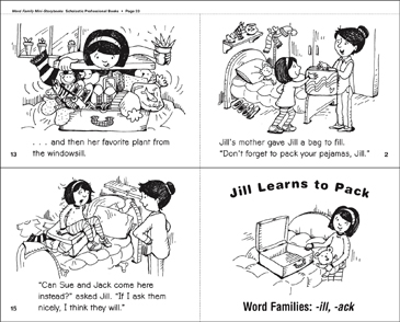 Jill Learns to Pack (-ill, -ack) - Printable Worksheet