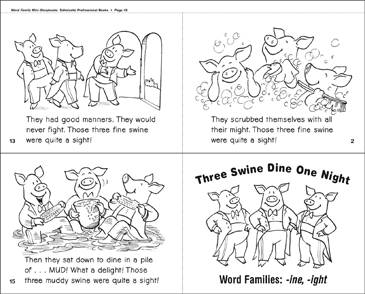 Three Swine Dine One Night (-ine, -ight) - Printable Worksheet