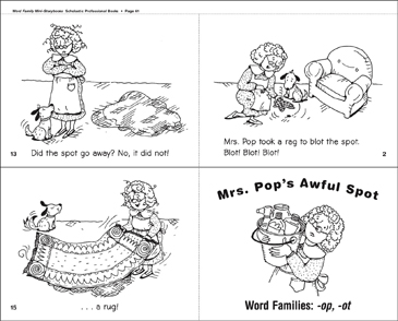 Mrs. Pop's Awful Spot (-op, -ot) - Printable Worksheet