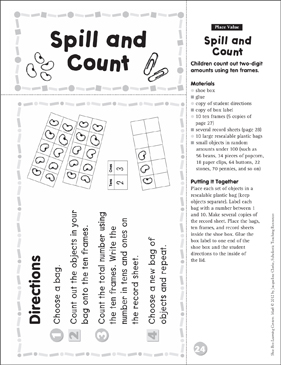 Place Value: Math Shoe Box Learning Center - Printable Worksheet