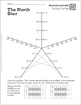 The North Star (2-Digit Multiplication) - Printable Worksheet