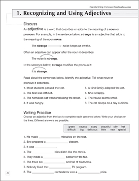 Recognizing & Using Adjectives: Life Skills Practice - Printable Worksheet