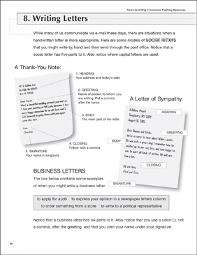 Letter-Writing Skills: Practice Page - Printable Worksheet