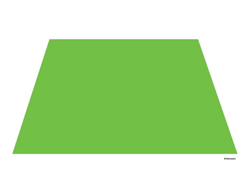 Green Trapezoid - Image Clip Art