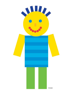 Boy in Blue Striped Shirt - Image Clip Art