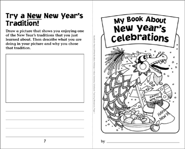 My Book About New Year's Celebrations - Printable Worksheet